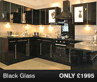 Black Glass Kitchen Units