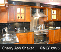 Cherry Ash Shaker Kitchen Units