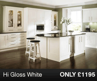 HiGloss White Kitchen Units