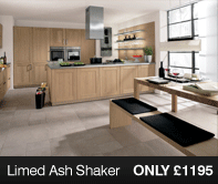 Limed Ash Kitchen Units