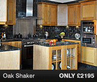 Oak Shaker Kitchen Units