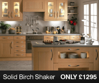 Solid Birch Kitchen Units
