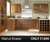 Walnut Shaker Kitchen Units